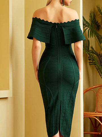 NATAYA Midi Dress in Green