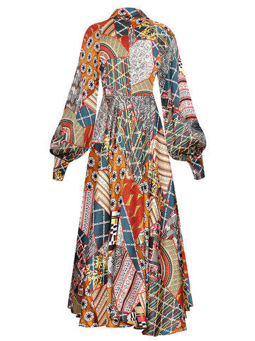 MOANI Printed Maxi Dress