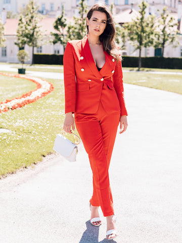 ROSSO Double Breasted Blazer & Pants Set