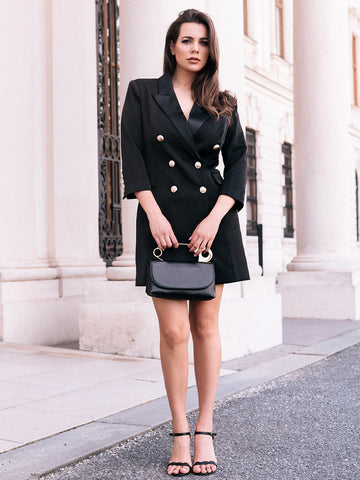 SALMA Double Breasted Mini Blazer Dress