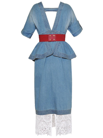 NUEVO-MEXICANA Denim Dress