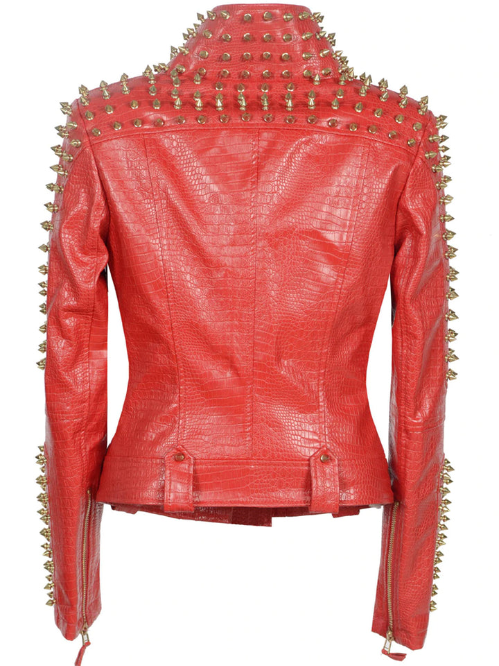 ROCCO Riveted Faux-Leather Jacket