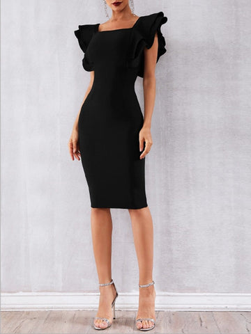 ORLANDO Butterfly-Sleeve Bodycon Dress