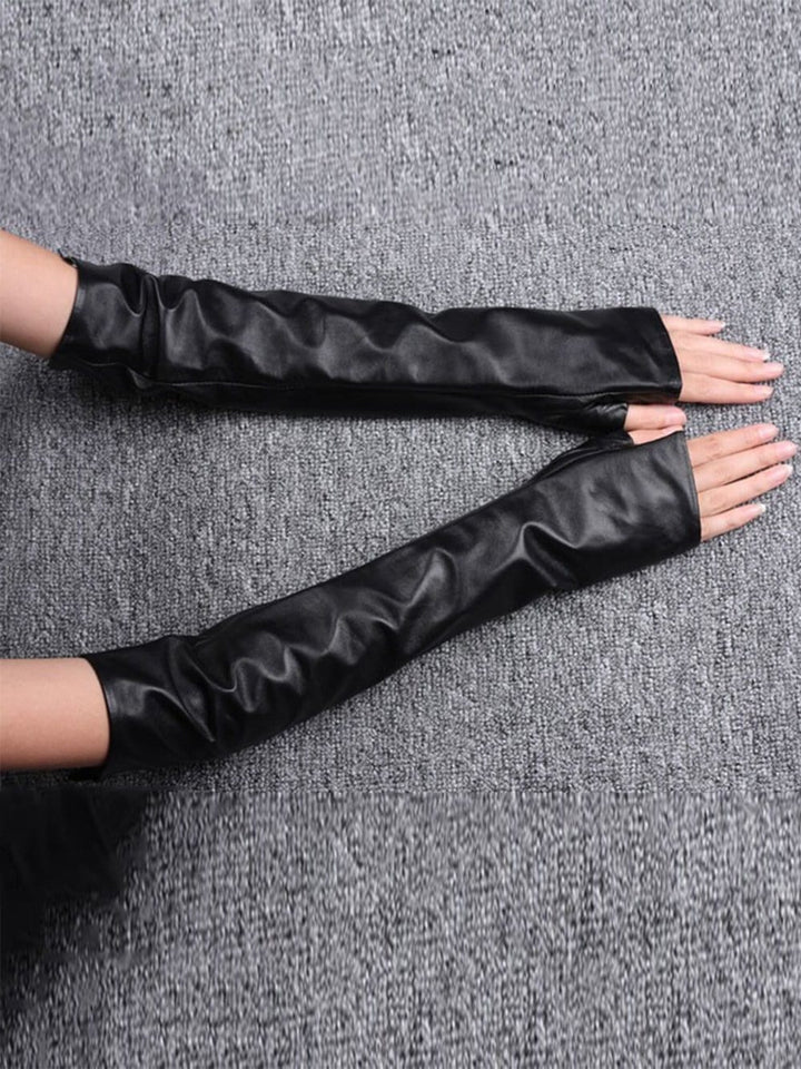 RAPIDO Faux Leather Elbow Gloves