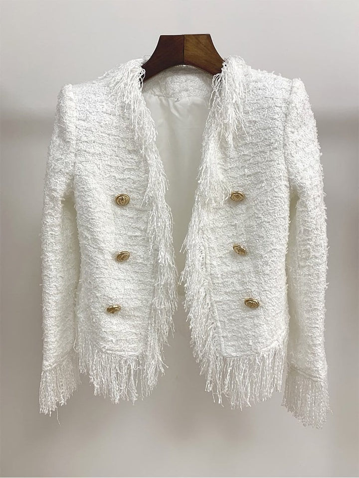 RELEVÉ Fringed Tweed Jacket