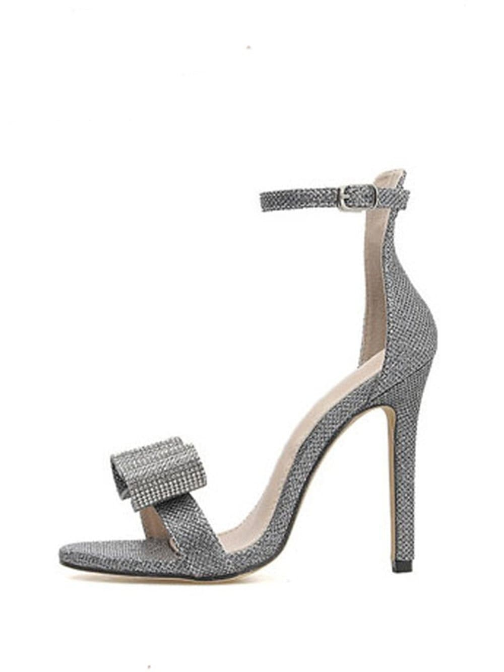 SAUL Rhinestone-Beaded High Heel Shoes