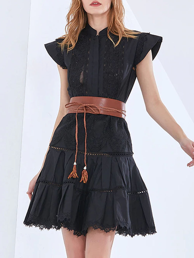 CECILLE Belted Mini Dress