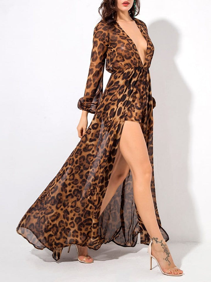 TANYA Leopard Playsuit