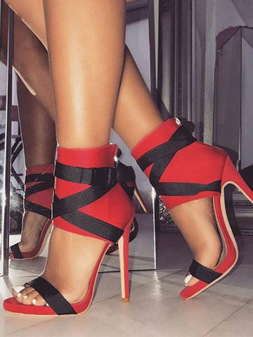 TRIESTE Ankle-Strap High-Heels
