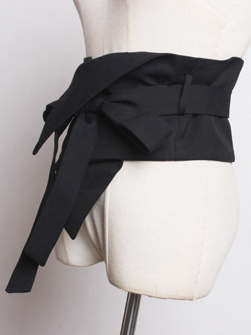 Asymmetrical Bow Waist Belt