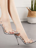 PVC Stiletto Heel Pumps