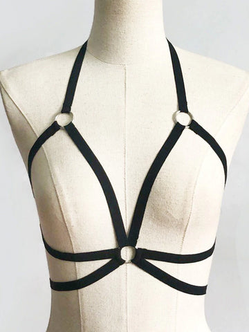 Hollow Strappy Bra Cage Crop Top Bustier