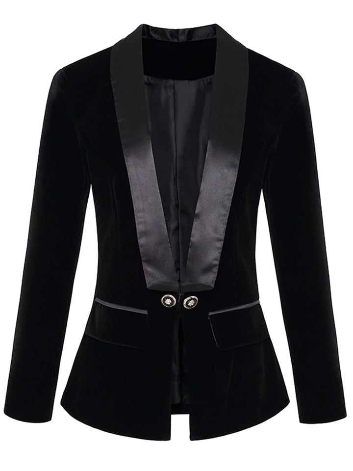 Double-breasted Velvet Blazer