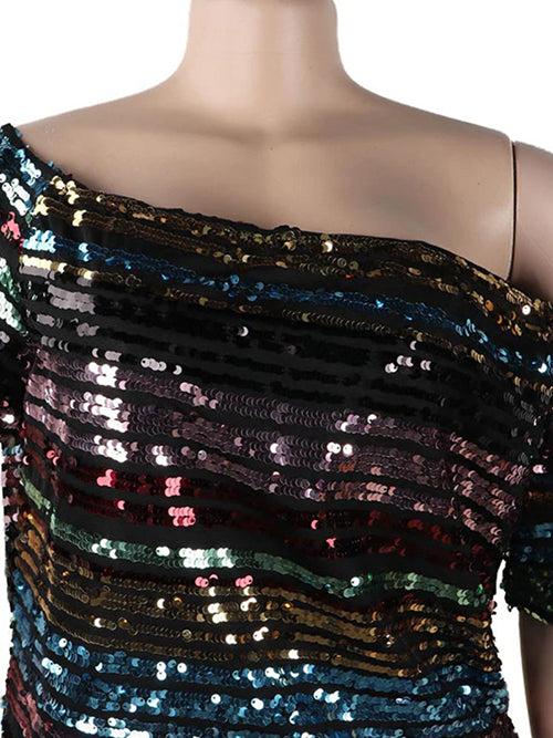 Multicolor Sequinned Top