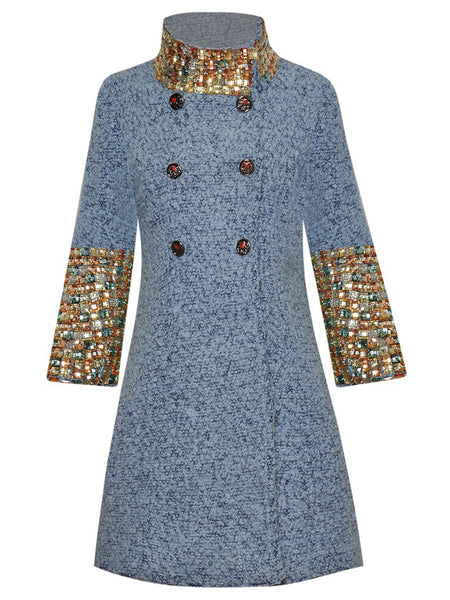 Beaded Trench Coat