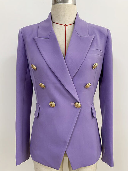 Double Breasted Purple Blazer