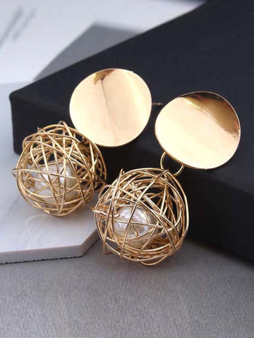 FIELDS OF GOLD Drop Earrings