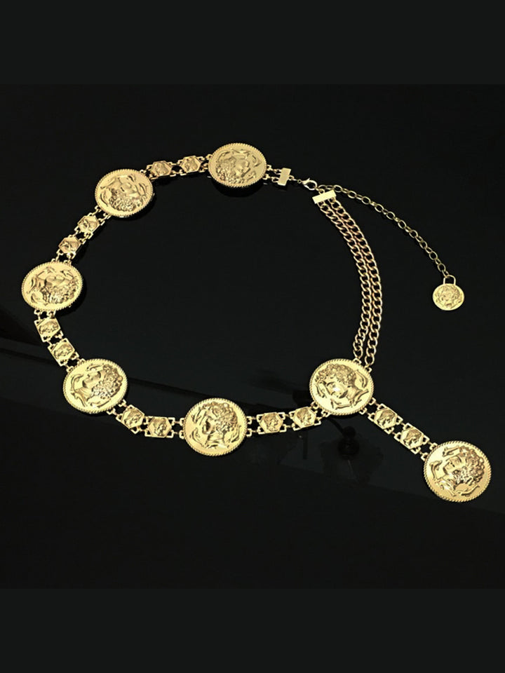 Golden Coin Waist Belt