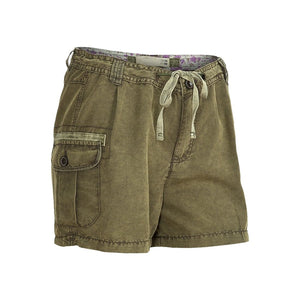 Sebix - Olive Green Khaki Combat Summer Shorts Hot Pants - Front
