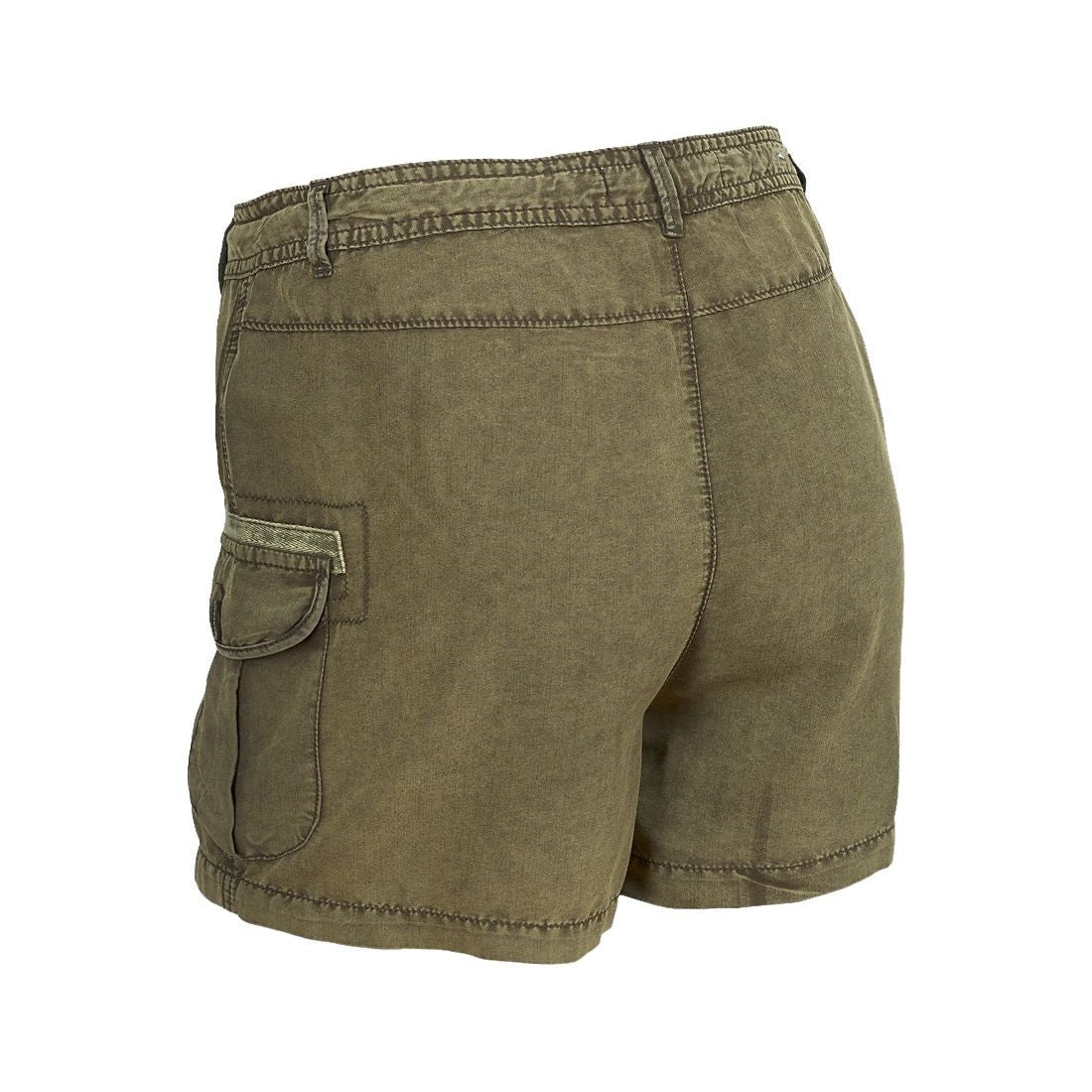 Sebix - Olive Green Khaki Combat Summer Shorts Hot Pants - Back