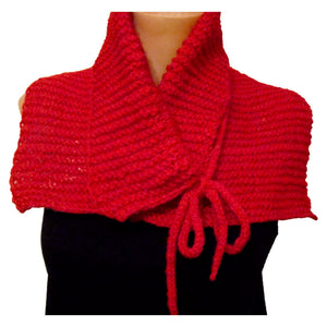 Sebix - Warm Wooly Red Hat and Scarfs Set - Scarf 1