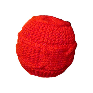 Sebix - Warm Wooly Red Hat and Scarfs Set - Hat 2