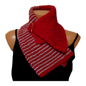 Sebix - Warm Wooly Red Hat and Scarfs Set - Scarf 2