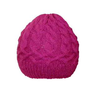 Sebix - Warm Wooly Purple Hat and Snood Scarf - Hat 2