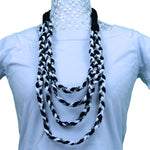 Sebix - 3 Coloured Rebel Style Fabric String Necklace Plait - Variant 2