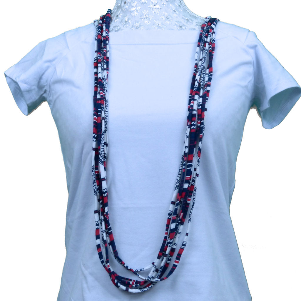 Sebix - Colourful Rebel Style Fabric String Necklace