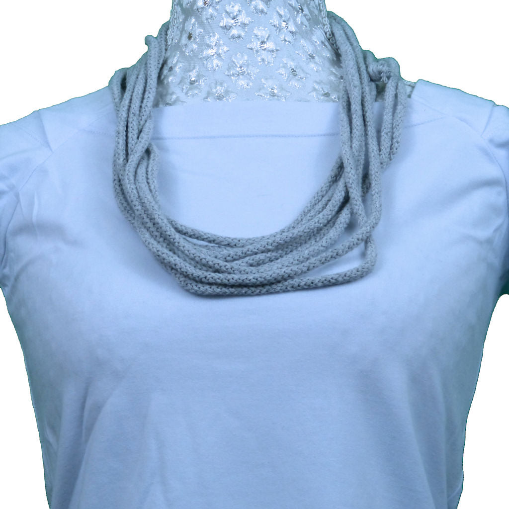 Sebix - Grey Rebel Style Fabric String Necklace