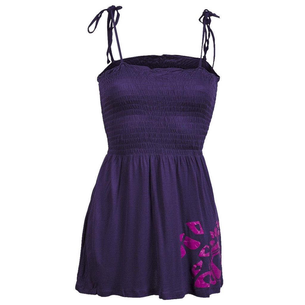 Sebix - Sexy Purple Pink Gypsy Maternity Summer Cami Lace up Strappy Top