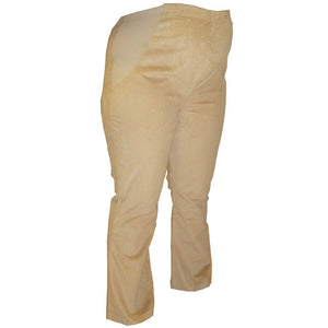 Sebix - Beige Over Bump Maternity Bootleg Cotton Corduroy Trousers