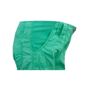 Sebix - New Look Green Cotton Cargo Maternity Under Bump Knee Length Summer Shorts - Side