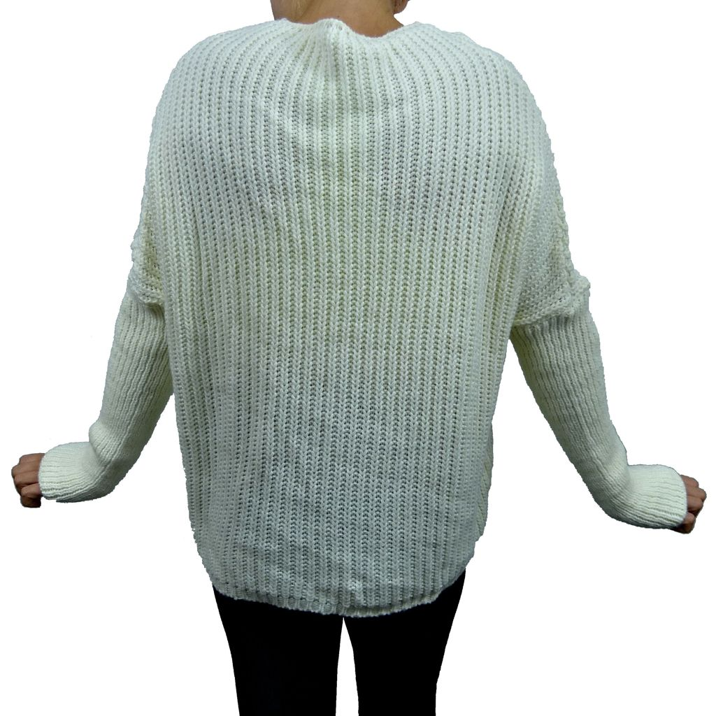Sebix - Warm Oversize Jumper - Ivory - Back