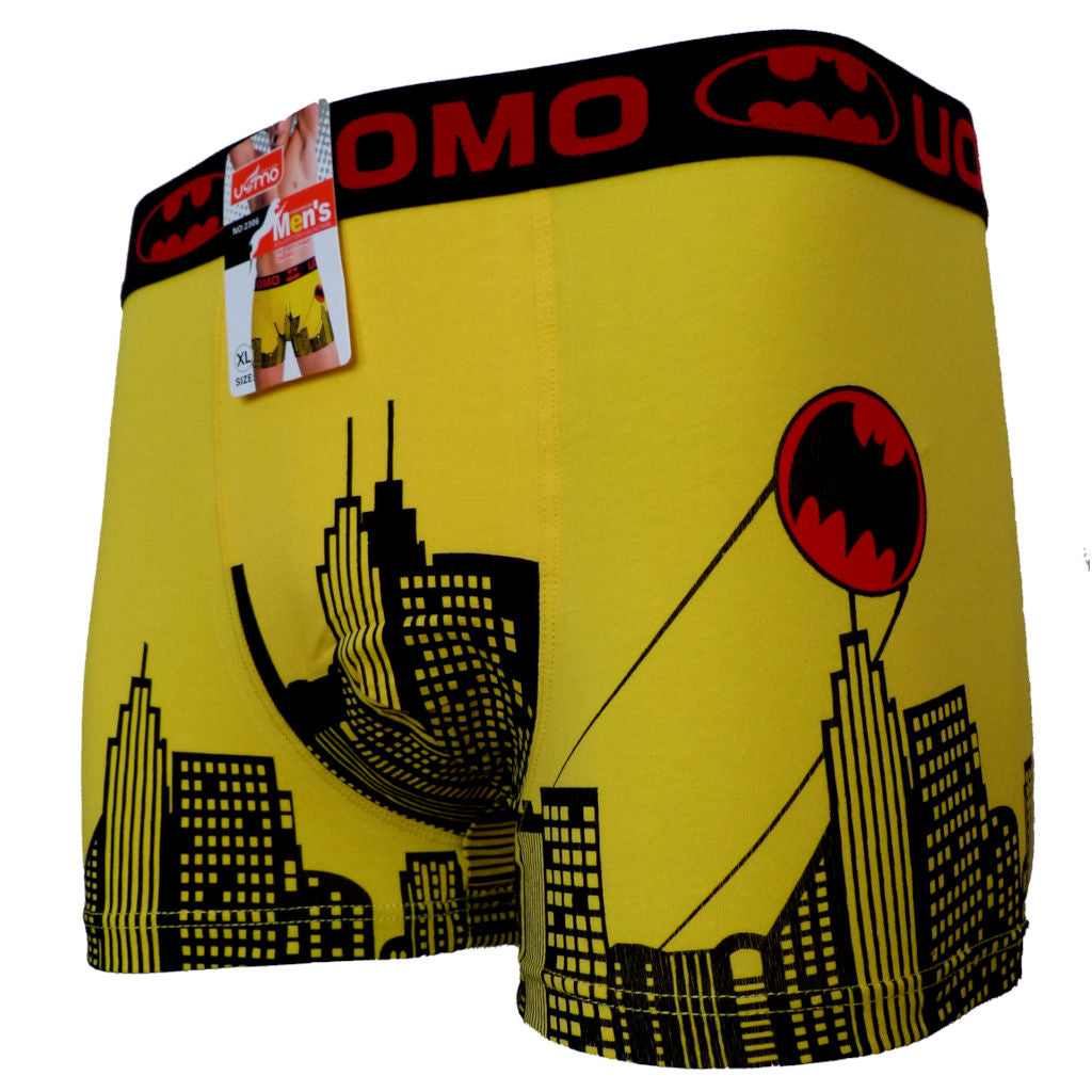 Sebix - Batman Cotton Boxer Shorts - Yellow - Front