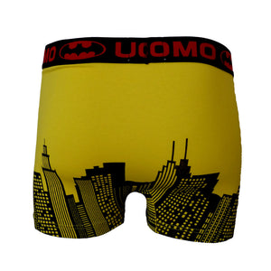 Sebix - Batman Cotton Boxer Shorts - Yellow - Back