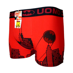 Sebix - Batman Cotton Boxer Shorts - Red