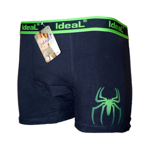 Sebix - Boxer Shorts with Spider - Navy/Green