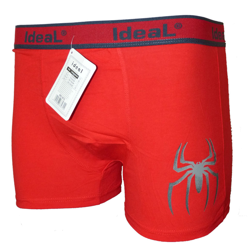 Sebix - Boxer Shorts with Spider - Red