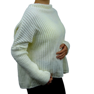 Sebix - Warm Oversize Jumper - Ivory - Side
