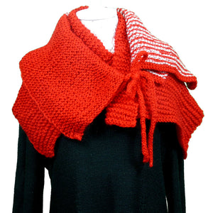 Sebix - Warm Wooly Red Hat and Scarfs Set - Scarf 3