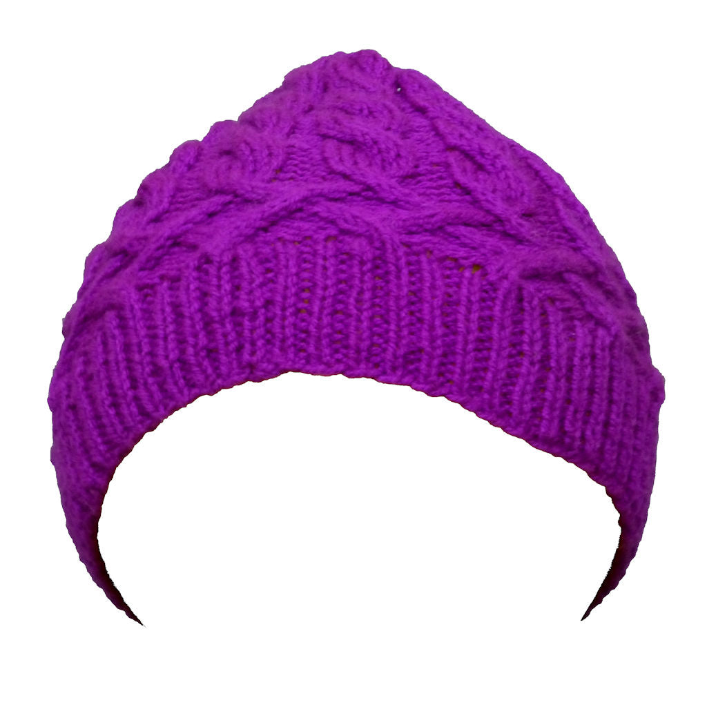 Sebix - Warm Wooly Purple Hat and Snood Scarf - Hat 1