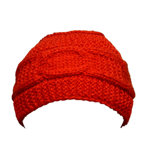 Sebix - Warm Wooly Red Hat and Scarfs Set - Hat 1