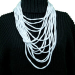 Sebix - White Rebel Style Fabric String Necklace