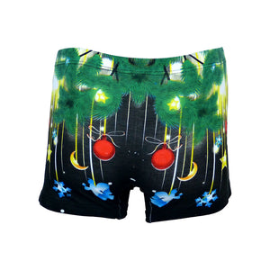 Sebix - Xmas Santa Cotton Boxer Shorts - Black - Back 2