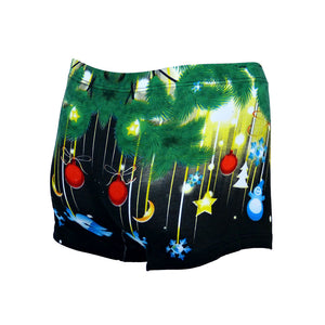 Sebix - Xmas Santa Cotton Boxer Shorts - Black - Back 3