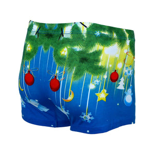 Sebix - Xmas Santa Cotton Boxer Shorts - Blue - Back 3