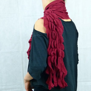 Burgundy Red Winter Waterfall Scarf Shawl Neck Warmer