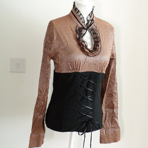 Longsleeve Victorian Blouse with Corset
